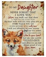 To My Daughter Remember How Much You Are Loved YC0309376CL Fleece Blanket