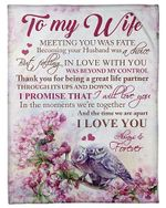 My Wife Thank You For Being A Great Life Partner YC0309329CL Fleece Blanket