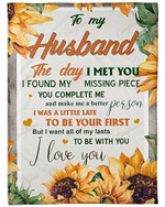 To My Husband I Love You Forever YC0309429CL Fleece Blanket