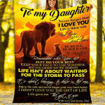 Lion To My Daughter I Love You YC0109522CL Fleece Blanket