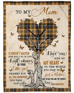 To My Loving Mom I Will Always Be Your Girl Your Daughter YC0309501CL Fleece Blanket