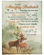 To My Amazing Husband I Love You With All I Am YC0309215CL Fleece Blanket