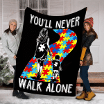 You Will Never Walk Alone Autism Awareness Month YC0209255CL Fleece Blanket