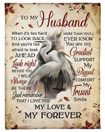 My Husband You Are My Greatest Support YC0309327CL Fleece Blanket
