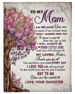 To My Mom I Love You With All My Heart YC0309504CL Fleece Blanket