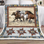 Brown And White Horse YC0209903CL Fleece Blanket