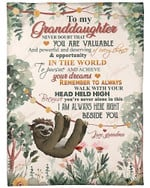 To My Granddaughter I Am Always Here With You YC0309163CL Fleece Blanket