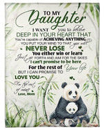 To My Daughter I Promise That I Love You Forever YC0309349CL Fleece Blanket