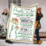To My Daughter In Law I Love You YC0109940CL Fleece Blanket