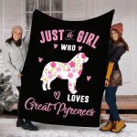 Just A Girl Who Loves Great Pyrenees YC0109223CL Fleece Blanket