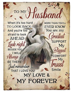To My Husband My Love And My Forever YC0309467CL Fleece Blanket