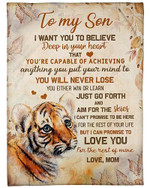 To My Son I Will Love You For The Rest Of My Life YC0309151CL Fleece Blanket