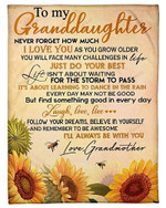 To My Granddaughter I Will Always Be With You Your Grandmother YC0309411CL Fleece Blanket