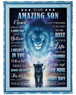 I Always Have Your Back To My Amazing Son YC0309175CL Fleece Blanket