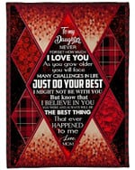 To My Daughter Dont Forget Your Way Back Home YC0309098CL Fleece Blanket