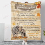 Elephant To My Granddaughter My Love Will Be By Your Side YC1009049CL Fleece Blanket