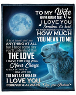 To My Wife Wolf And Moon YC1009338CL Fleece Blanket