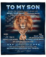 To My Son From Dad Lion YC1009309CL Fleece Blanket