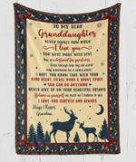To My Dear Granddaughter You Are Destined For Greatness YC1009199CL Fleece Blanket