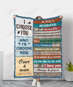 To My Husband I Love You Always And Forever YC1009264CL Fleece Blanket