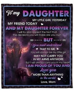To My Daughter From Mom Elephant Crown YC1009157CL Fleece Blanket
