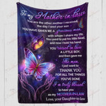 To My Mother In Law Thank You For All The Things YC1009301CL Fleece Blanket