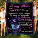 Butterfly Mandala To My Mom You Mean The World YC1009010CL Fleece Blanket