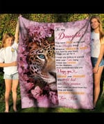 To My Daughter You Are Loved Beyond Measure YC1009194CL Fleece Blanket