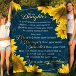 To My Daughter You Are My Sunshine YC1009196CL Fleece Blanket