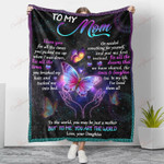 Butterfly To My Mom For All The Times YC1009021CL Fleece Blanket