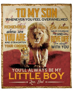 Lion To My Son From Dad YC1009085CL Fleece Blanket