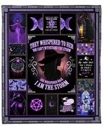 I Am The Storm Witch YC1009066CL Fleece Blanket
