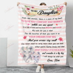 Elephant To My Daughter Your Dreams Stay Big YC1009046CL Fleece Blanket