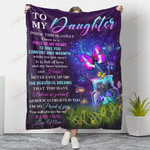 To My Daughter A Piece Of My Heart YC1009122CL Fleece Blanket