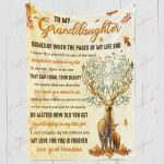 Deer To My Granddaughter My Love For You Is Forever YC1009032CL Fleece Blanket