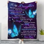 Butterfly To My Daughter Just Call My Name YC1009014CL Fleece Blanket
