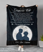 To My Gorgeous Wife Queen Of This Family YC1009205CL Fleece Blanket