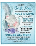 To My Son From Dad Elephant YC1009305CL Fleece Blanket