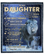 Lion Moon To My Daughter From Dad YC1009076CL Fleece Blanket