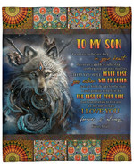 Wolf Mandala To My Son From Dad YC1009361CL Fleece Blanket