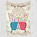 To My Daughter From Mom Spread Your Wings YC1009169CL Fleece Blanket