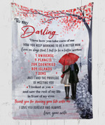 To My Darling The Privilege Of Meeting You YC1009121CL Fleece Blanket