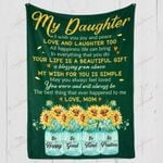 My Daughter I Wish You Joy And Peace YC1009092CL Fleece Blanket