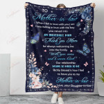 To My Mother In Law Thank You YC1009302CL Fleece Blanket