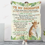 To My Daughter My Best Wishes For You YC1009185CL Fleece Blanket