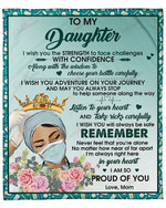 To My Daughter From Mom Nurse With Flower YC1009168CL Fleece Blanket