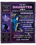 To My Daughter From Mom Witch YC1009172CL Fleece Blanket