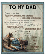 To My Dad From Daughter Wolf Forest YC1009117CL Fleece Blanket