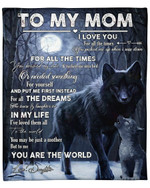 To My Mom From Daughter Wolf YC1009281CL Fleece Blanket