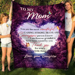 To My Mom Im Grateful To Have Been Raised By You YC1009291CL Fleece Blanket